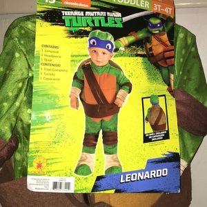 Ninja Turtle Halloween Costume Sz 3-4T New w/Tags